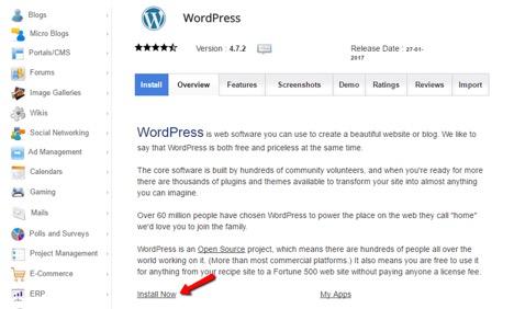 نصب Wordpress با اتواینستالرها