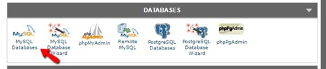 تنظیمات MySQL Database