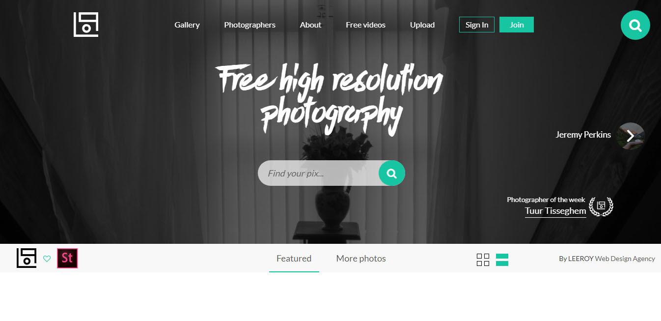 صفحه اصلی سایت Life of Pix