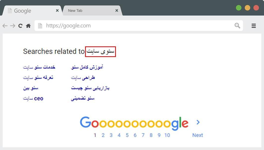 جست و جوهای مرتبط گوگل