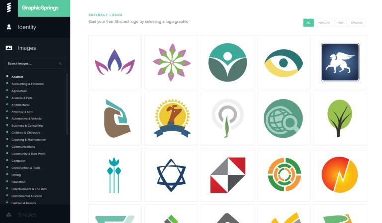 لوگو ساز آنلاین Graphic Springs