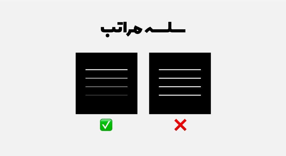 اصل سلسله مراتب در طراحی سایت