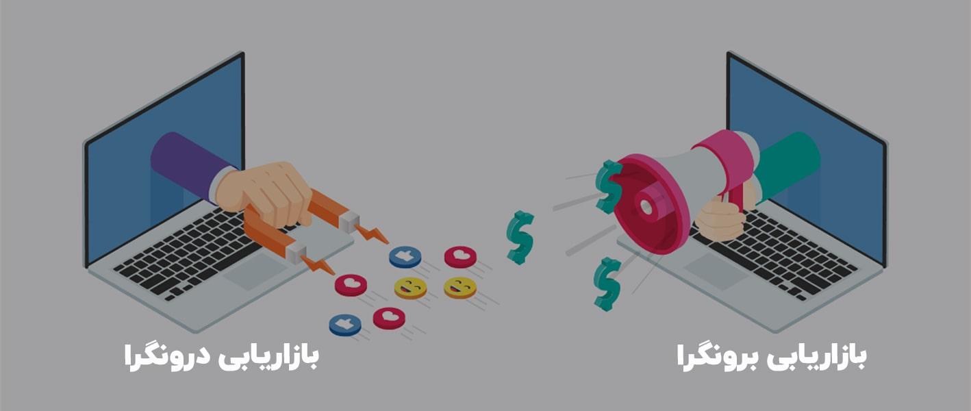 تفاوت بازاریابی درون گرا و برون گرا