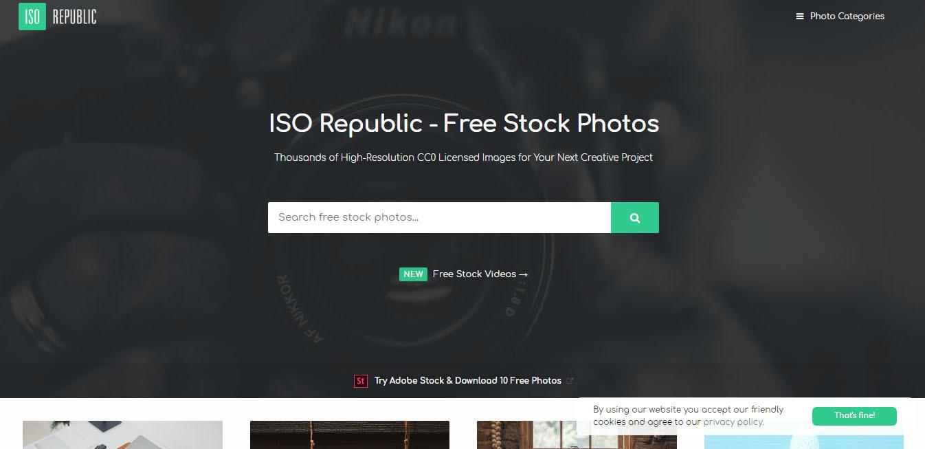 صفحه اصلی سایت Iso Republic